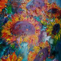 Tulpen Acryl Forman 40x60 Preis 180 Euro