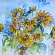 Sonnenblumen 250,00 € Größe: 50x70 cm Original Verkauft (in Privatsammlung)
